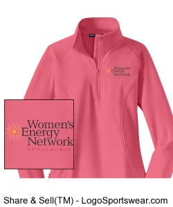 Ladies Sport-Wick Stretch 1/2-Zip Pullover Design Zoom